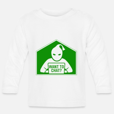 Stempel Want to chat? - Baby Langarmshirt