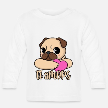 Valentinstag Valentinstag Mops Herz ti amops Liebe ti amo Paare - Baby Langarmshirt