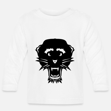 Panther wild animal head 3103 - Baby Longsleeve Shirt
