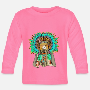 American Indian american indian cat - Baby Longsleeve Shirt