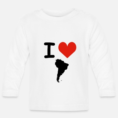 South America I Love South America - Baby Long Sleeve T-Shirt