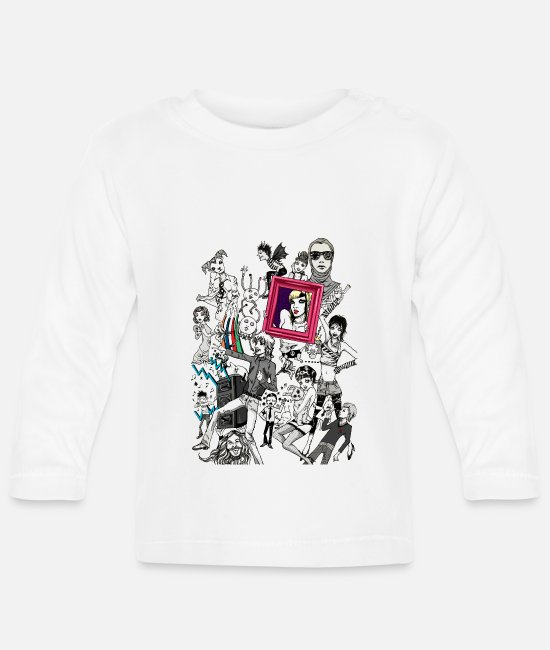 Pop Baby Long-Sleeved Shirts - Music - Baby Longsleeve Shirt white