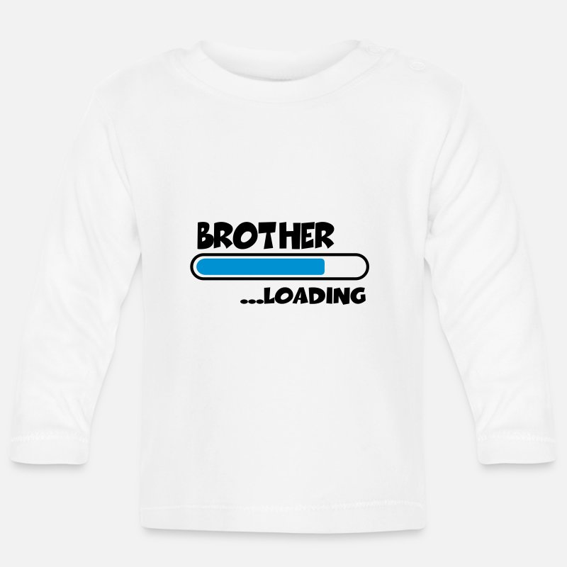 Hermano Ropa de bebé - Brother loading - Camiseta de manga larga bebé blanco