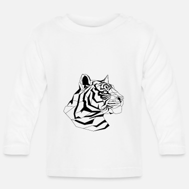 Triangle TIGER HEAD - Baby Longsleeve Shirt