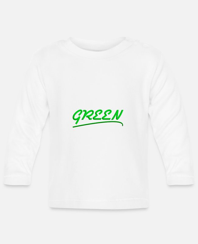 Eco Baby Long-Sleeved Shirts - Green - Baby Longsleeve Shirt white