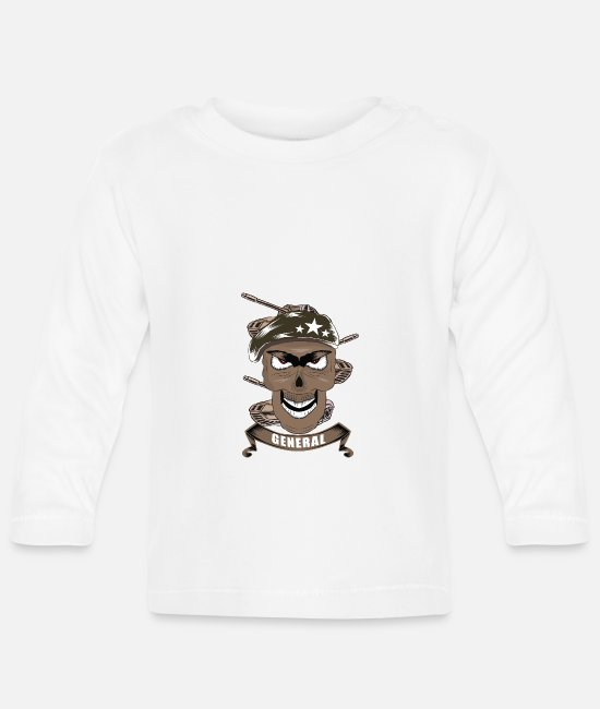 Fighter Baby Long-Sleeved Shirts - General soldier soldiers - Baby Longsleeve Shirt white