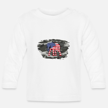 Army USA Elephant Army / Army Military Army - T-shirt manches longues Bébé