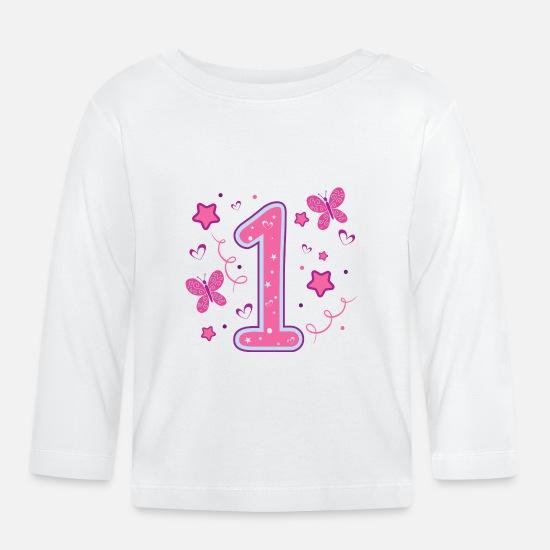 Erster 1 Geburtstag Ein Jahr Madchen Geschenk Baby Langarmshirt