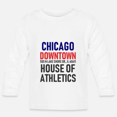 Chicago Centre-ville de Chicago - House of Athletics - Illinois - T-shirt manches longues Bébé