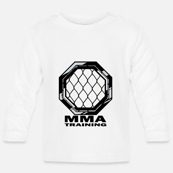 Mma Baby Clothes - MMA training - Baby Longsleeve Shirt white