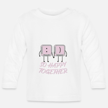 Together So happy together keyboard couple - Baby Longsleeve Shirt