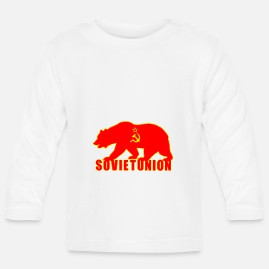 Sowjetunion Sowjetunion Bär mit Flagge - Baby Langarmshirt