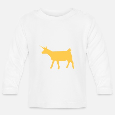 unigoat sharp unicorn goat - Baby Long Sleeve T-Shirt