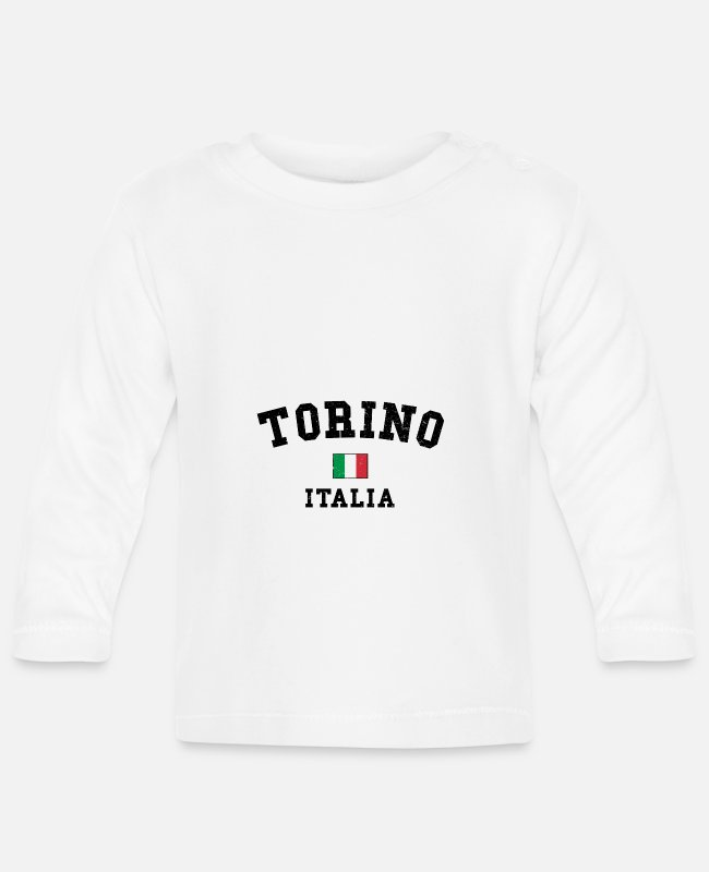 Turin Baby Long-Sleeved Shirts - Turin Torino - Baby Longsleeve Shirt white