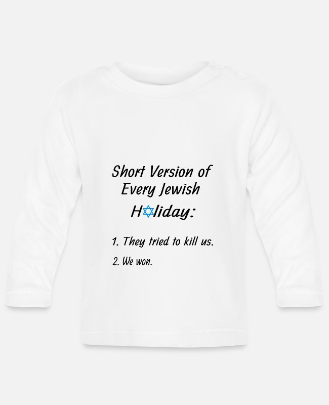 Jewess Baby Long-Sleeved Shirts - Every jewish holiday - Baby Longsleeve Shirt white