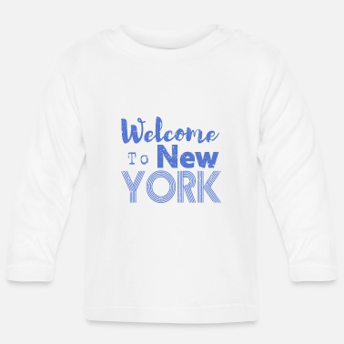 Nyc Welcome to New York Vintage - Baby Longsleeve Shirt