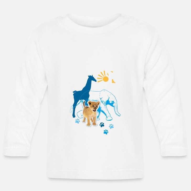 Animal Planet Baby Clothing - Animal Planet Animal Baby Long Sleeve Shirt - Baby Longsleeve Shirt white