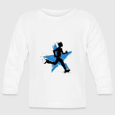 runner male with star - T-shirt