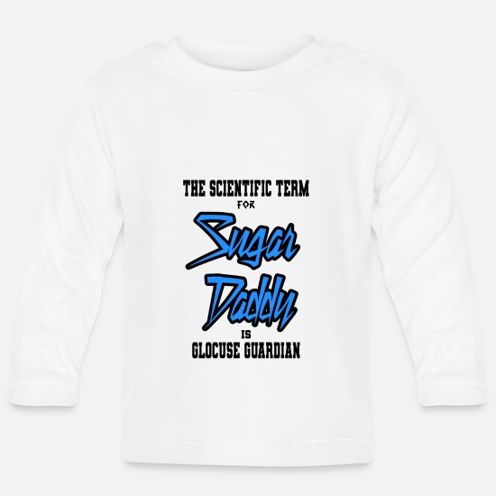 Chemistry Baby Clothes - Sugar daddy - Baby Longsleeve Shirt white