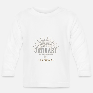 All Dad Are Equal Vater Geboren im Januar Shirt - Baby Langarmshirt