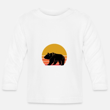 China Retro Sun Panda Animal Gift Idea - Baby Longsleeve Shirt