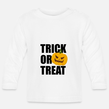 Halloween Trick or Treat Horror Pumpkin Pumpkin - Langærmet babyshirt