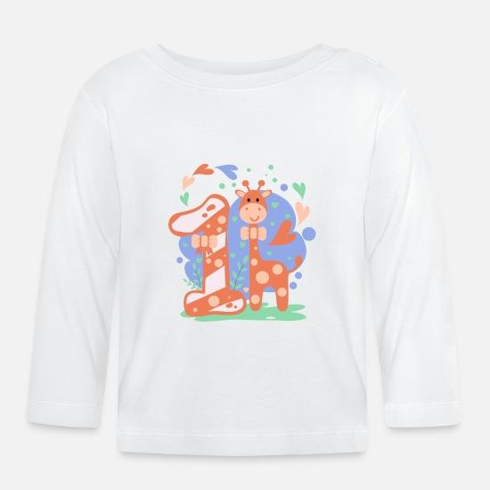 Eerste Verjaardag Meisje Jongen Cadeau T Shirt Wit