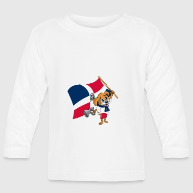 Dominican Republic fan dog - Baby Long Sleeve T-Shirt