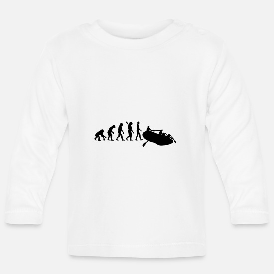 Dinghy Baby Clothes - rafting - Baby Longsleeve Shirt white