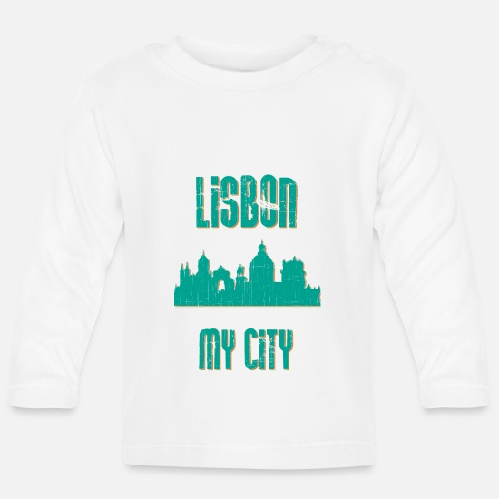 Country Baby Clothes - LISBON MY CITY - Baby Longsleeve Shirt white