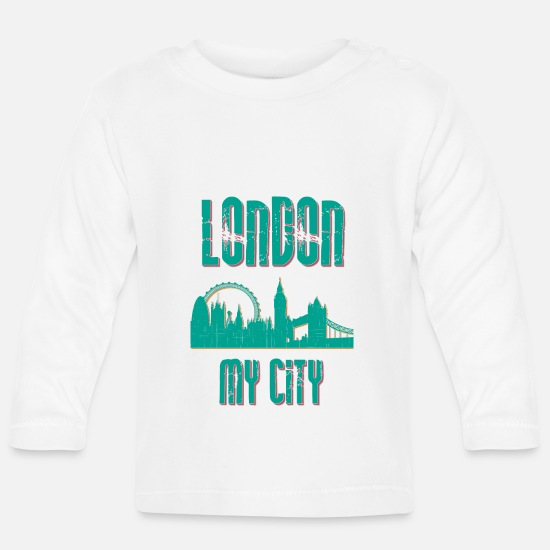Country Baby Clothes - London MY CITY - Baby Longsleeve Shirt white
