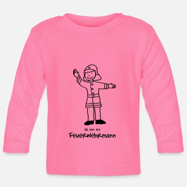 Firefighter motif for coloring - Baby Longsleeve Shirt