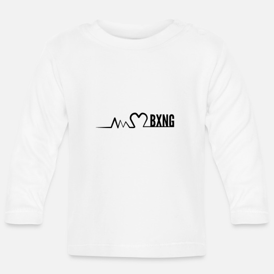 Gift Idea Baby Clothes - I love boxing ECG - Baby Longsleeve Shirt white