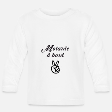 Baby On Board MOTARDE ON BOARD (in schwarz) - Baby Langarmshirt