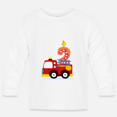 Birthday 2nd Birthday - Fire Department - Baby Longsleeve Shirt