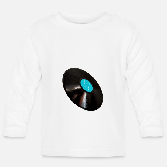 Record Baby Clothes - vinyl record - Baby Longsleeve Shirt white