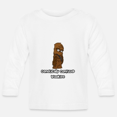 Chewbacca Funny Genetically Confused Wookiee | ThereGoesLucie - Baby Longsleeve Shirt