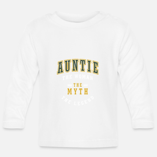 Auntie Baby Clothes - Auntie The Woman - Baby Longsleeve Shirt white