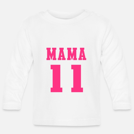 Mummy Baby Clothes - MAMA 2011 straight - Baby Longsleeve Shirt white