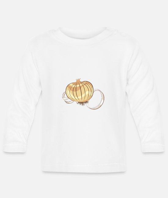 Birthday Baby Clothes - onion - Baby Longsleeve Shirt white