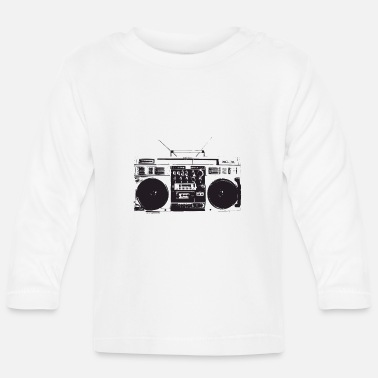 Old School Hip Hop Ghetto blaster vintage, old school hip hop - Maglietta maniche lunghe neonato