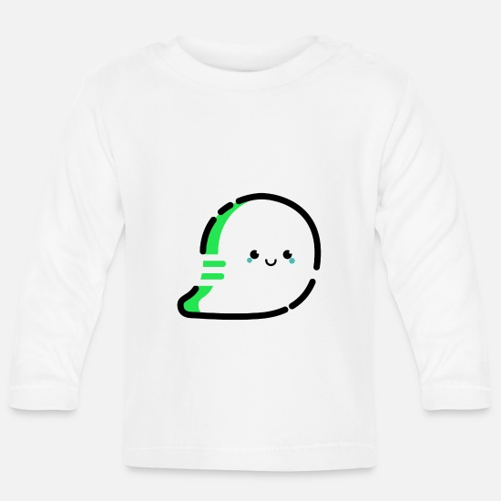 Devil Baby Clothes - Cartoon / comic ghost very friendly - Baby Longsleeve Shirt white
