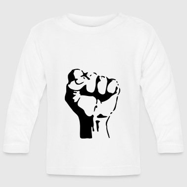 Fist stencil - Baby Long Sleeve T-Shirt