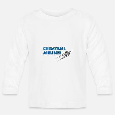 Airline Chemtrail Airlines plane - Baby Longsleeve Shirt
