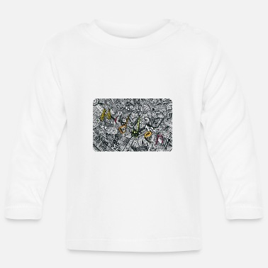 Hidden Zentangle Art Solution yellow edition - Baby Langarmshirt