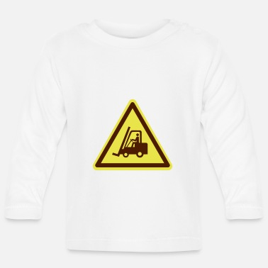 Traffic Forklift plate (colors adjustable!) - Baby Longsleeve Shirt