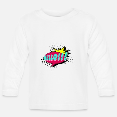 Speech Balloon Speech bubble, speech balloon, pop art, text bubble - Baby Longsleeve Shirt