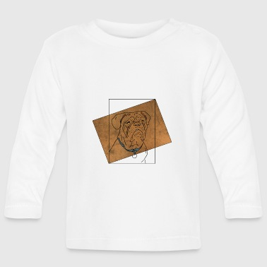 Illustration Bulldog illustration - Långärmad T-shirt baby