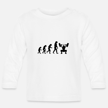 Funny Evolution Gym - Baby Longsleeve Shirt