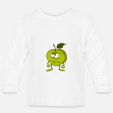 Angry Angry Apple - T-shirt manches longues Bébé
